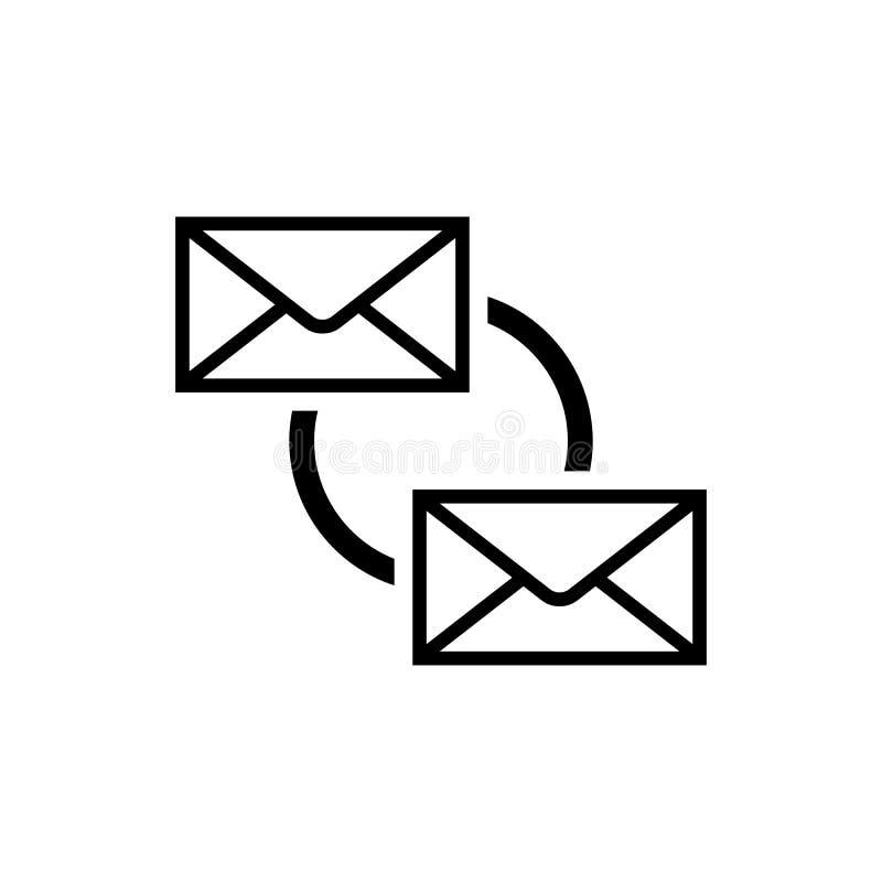 El correo electrónico sincroniza el icono Símbolo de la sincronización del correo electrónico ilustración del vector