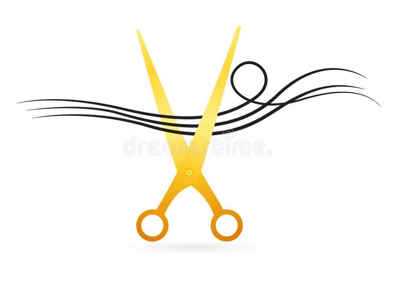 El corte del pelo scissor stock de ilustración