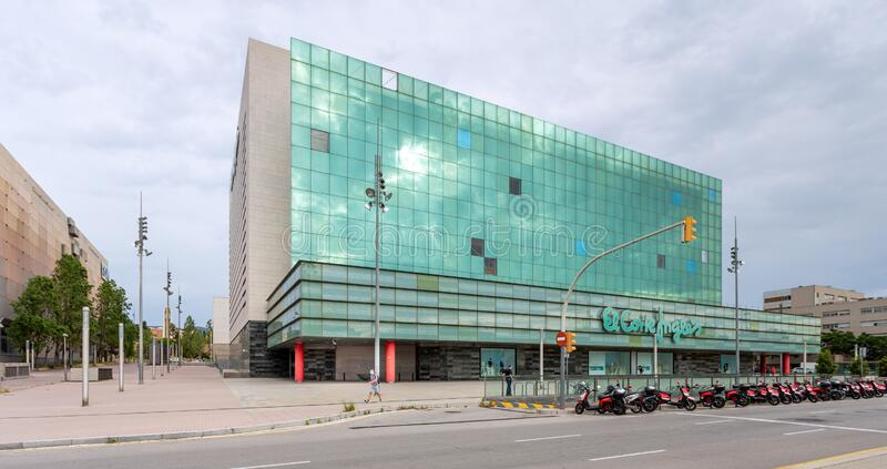 Architecture of the El Corte Ingles complex in Barcelona royalty free stock photography