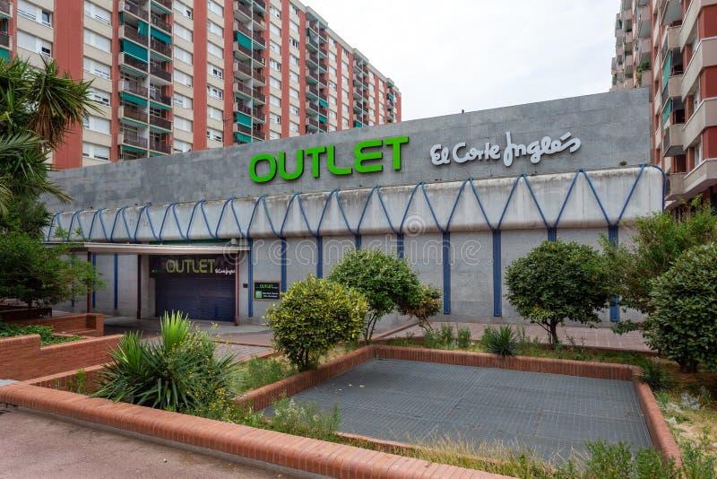 Outlet of El Corte Ingles Av Meriadiana in Barcelona royalty free stock photos