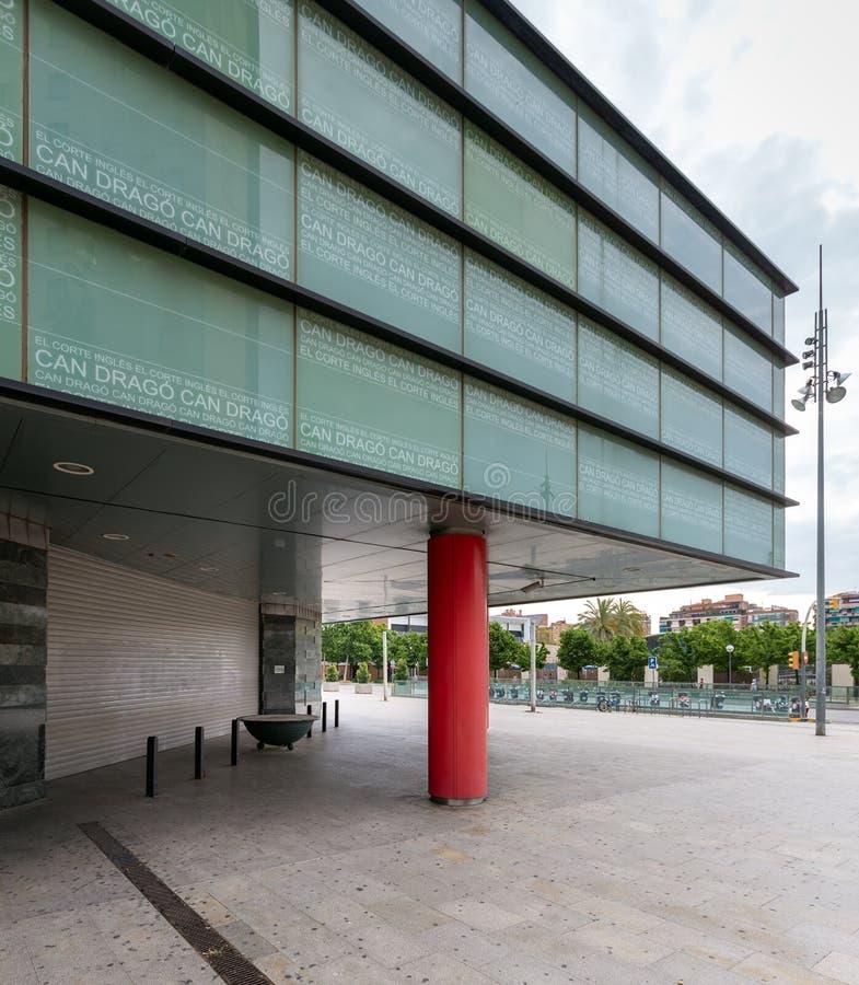 Main entrance of El Corte Ingles Meridiana royalty free stock image