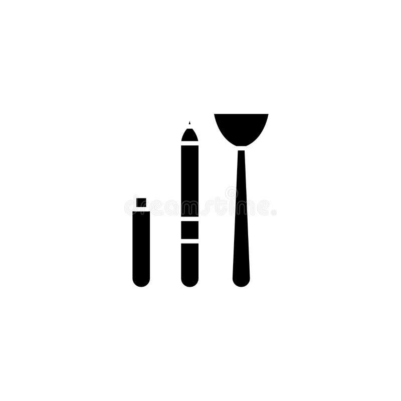 El Cosmetologist equipa concepto negro del icono El Cosmetologist equipa el símbolo plano del vector, muestra, ejemplo libre illustration