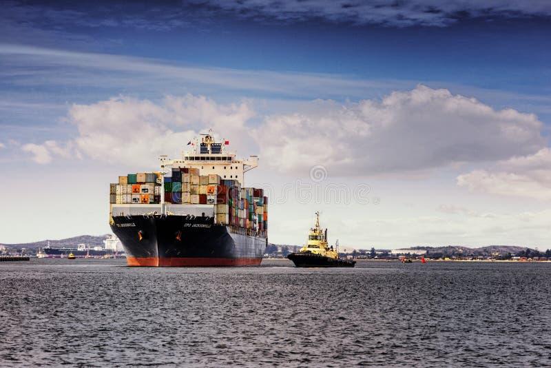 El CPO Jacksonville sale la botánica portuaria para Melbourne, Australia imagen de archivo