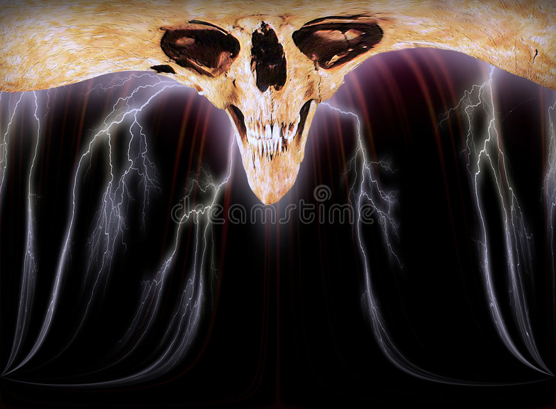 Download El cráneo III stock de ilustración. Ilustración de horror - 192885