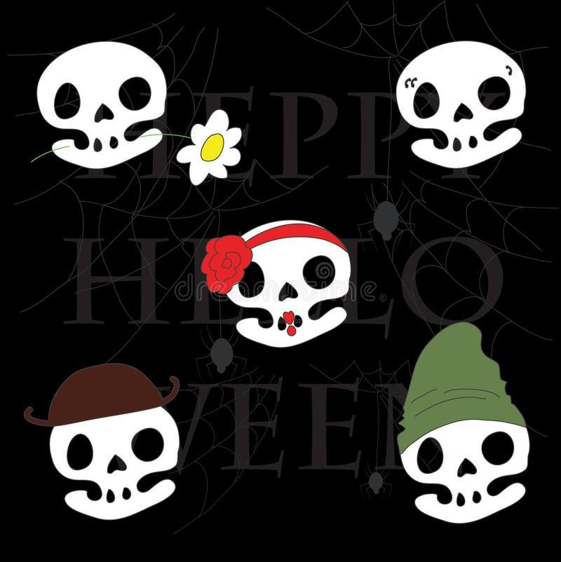 El cráneo lindo se viste para arriba para Halloween imagen de archivo libre de regalías