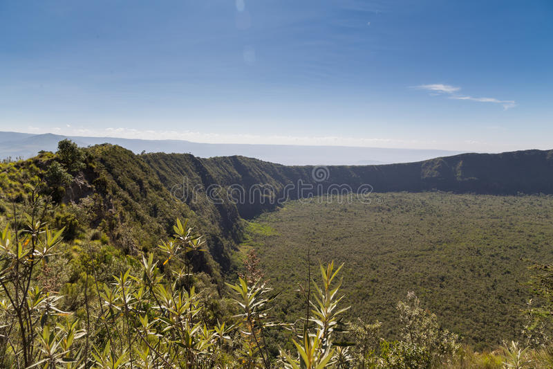 El cráter de Longonot del soporte fotos de archivo libres de regalías