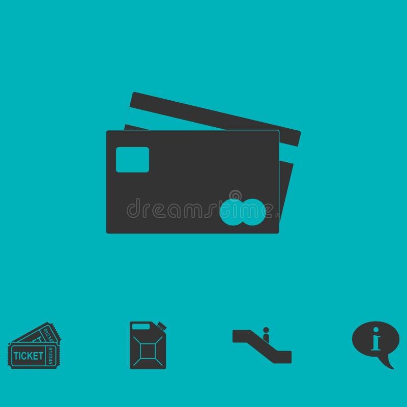 El crédito tarjeta el icono del pago completamente ilustración del vector