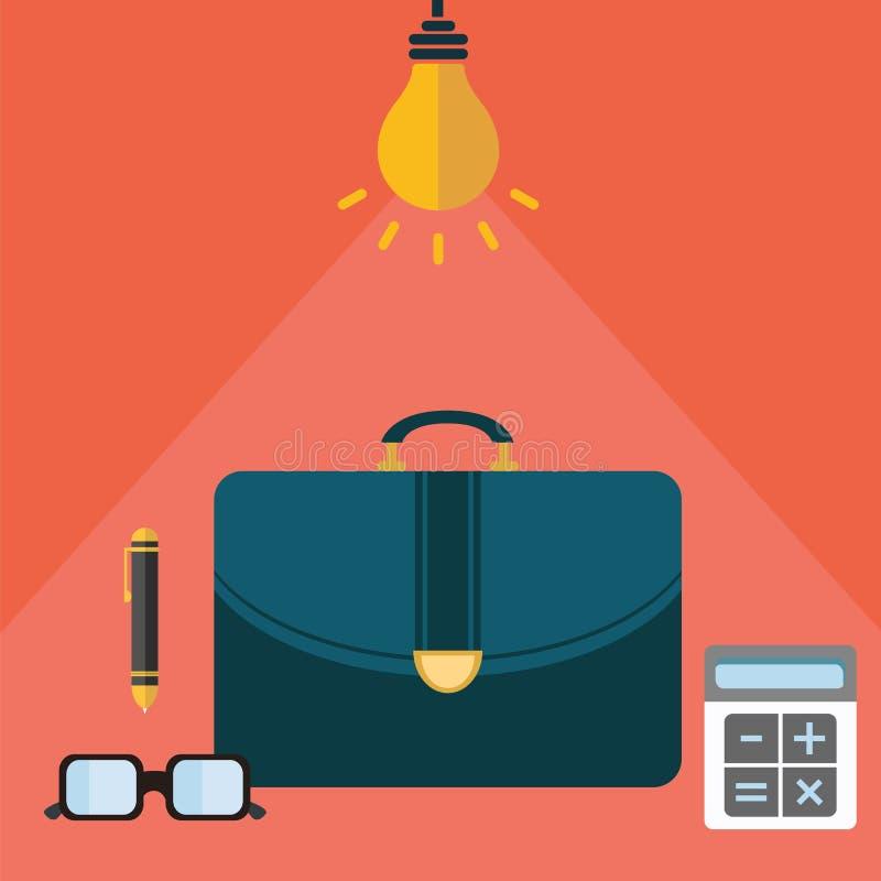 El crecimiento rápido de la estrategia moderna del negocio y de la gestión de su concepto de la compañía vector el ejemplo ilustración del vector