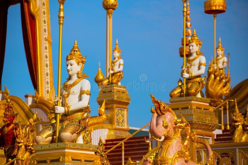 El crematorio real de su rey Bhumibol Adulyadej de la majestad foto de archivo libre de regalías