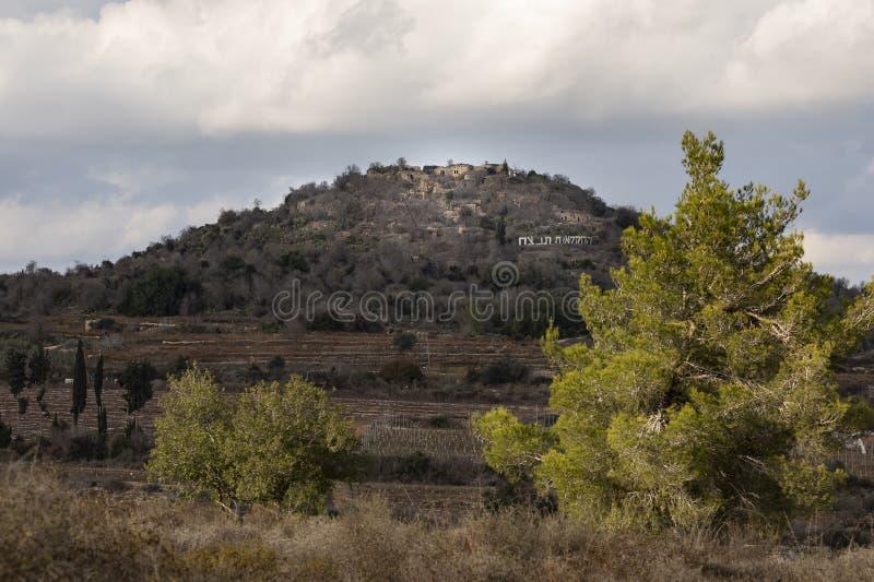 El cruzado Belmont estrellado en el Monte Suba, Israel imagenes de archivo