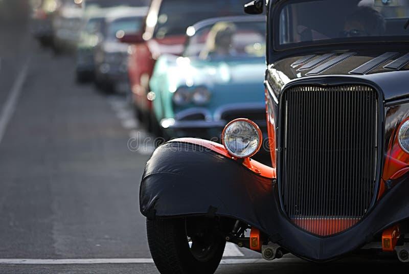 El cruzar clásico del coche fotos de archivo