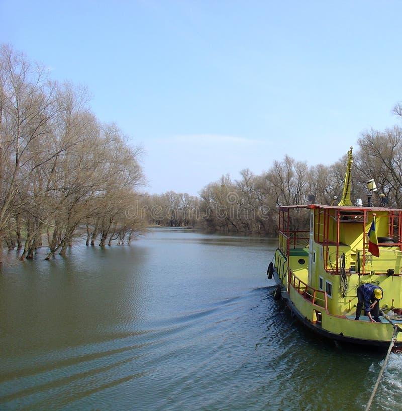 El Cruzar (delta De Danubio) Foto de archivo libre de regalías