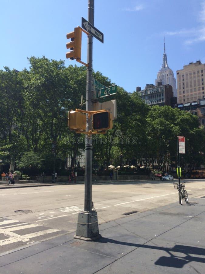 El cruzar en el Central Park fotos de archivo