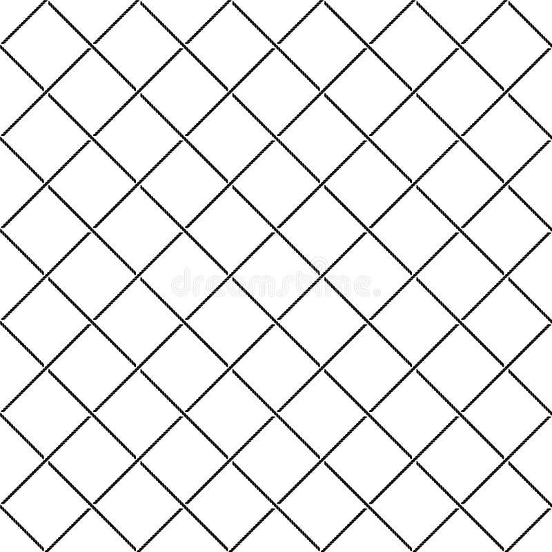 El cruzar entrecruza el modelo inconsútil neto diagonal de las cuerdas del mar libre illustration