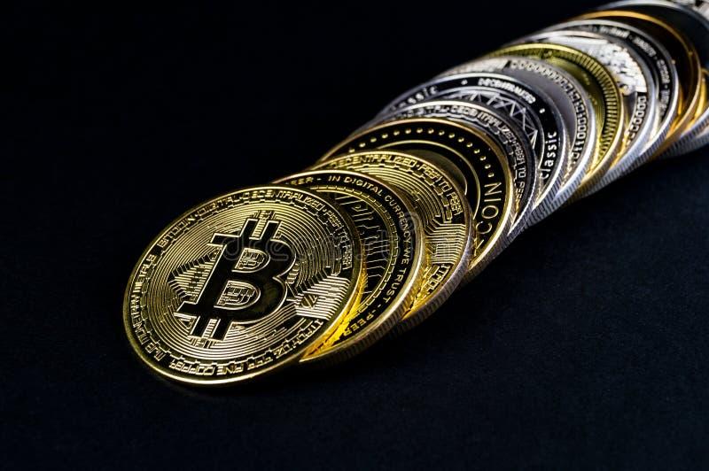 El cryptocurrency de Bitcoin BTC significa del pago en el sector financiero fotos de archivo libres de regalías