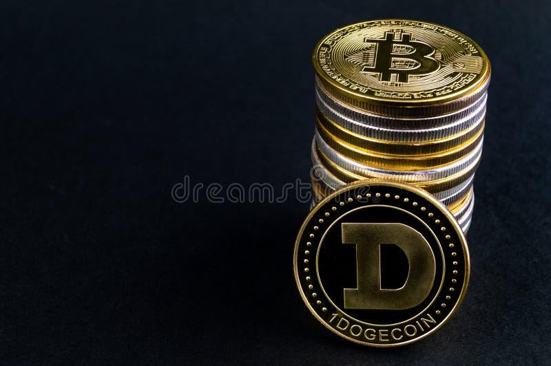 El cryptocurrency del DUX de Dogecoin significa del pago en el sector financiero imagenes de archivo