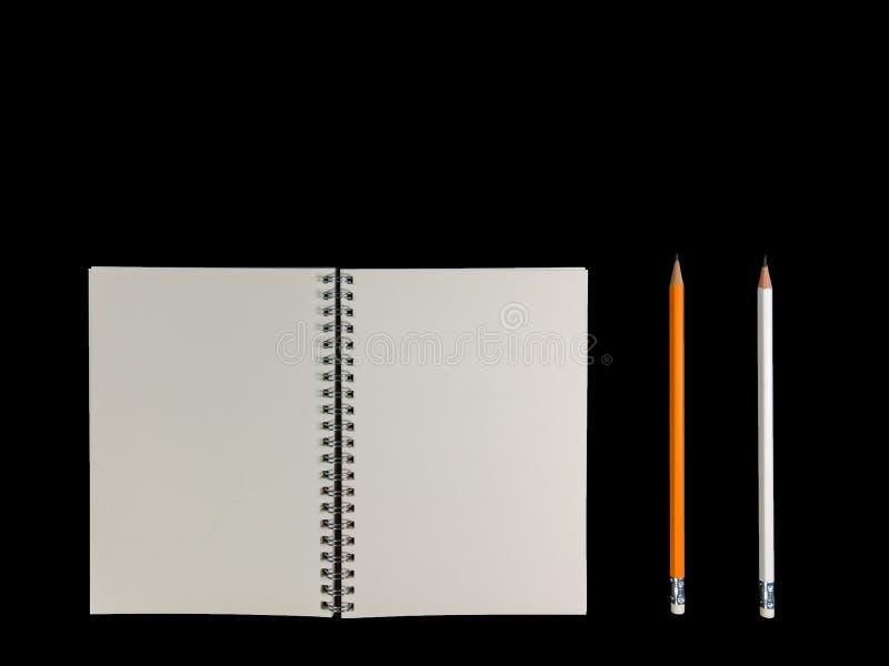 El cuaderno claro del color se abrió para la nota o la nota FO de la nota o de la conferencia imágenes de archivo libres de regalías