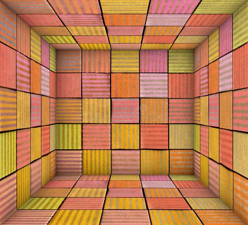 El cuadrado de la pintura de espray de la pintada tejó el espacio vacío stock de ilustración