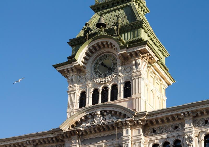 El cuadrado de la unidad en Trieste, Italia fotos de archivo