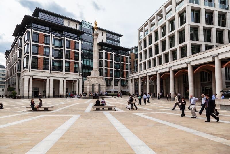 Paternoster Londres cuadrado foto de archivo libre de regalías