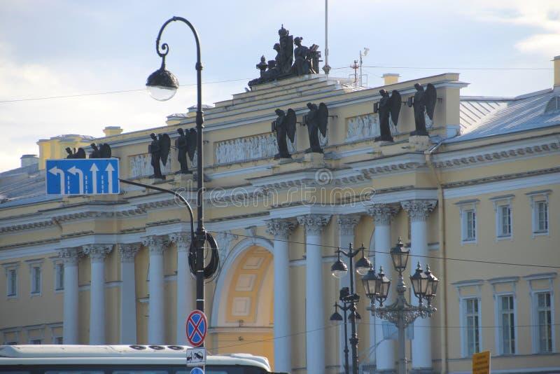 El cuadrado del senado Santos Petersburgo Rusia foto de archivo