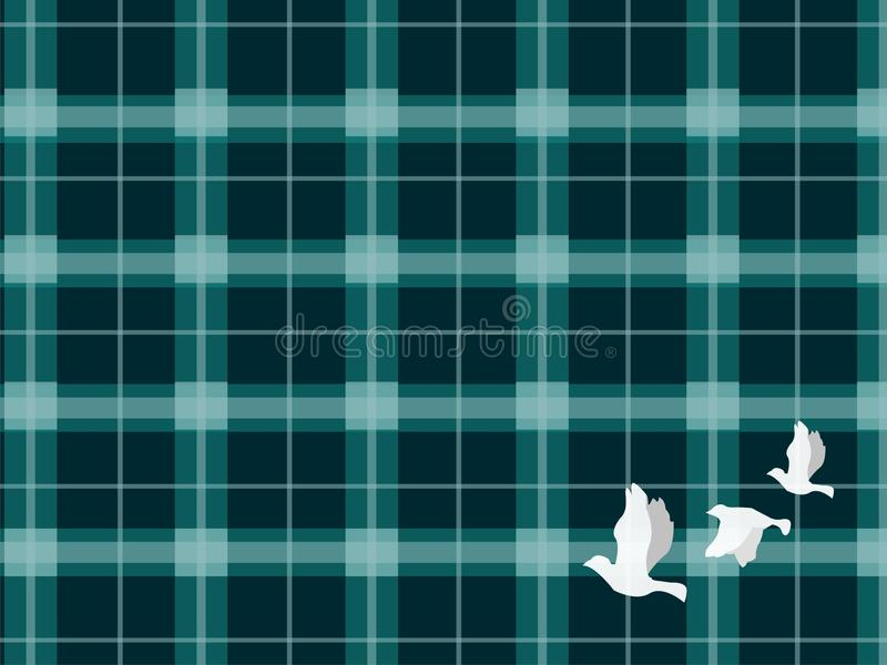 El cuadrado y el pájaro de vuelo fotografía de archivo