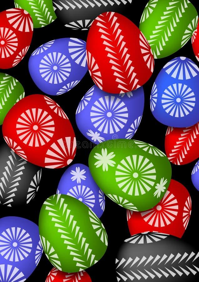 El cuadro de los huevos de Pascua stock de ilustración