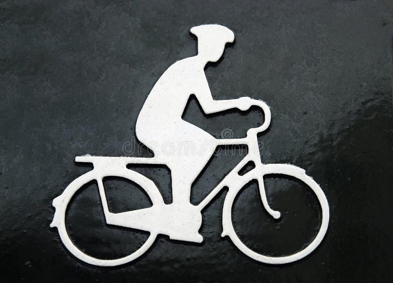 El cuadro del hombre de ciclo imagenes de archivo