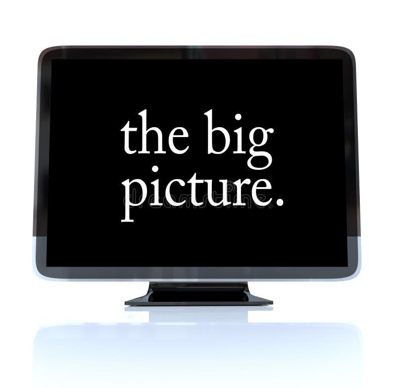 El cuadro grande - televisión de alta definición TVAD ilustración del vector