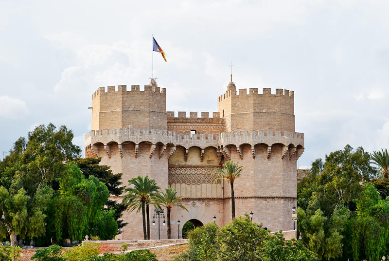 El cuarto de galón se eleva los tiros Valencia Spain imagen de archivo libre de regalías