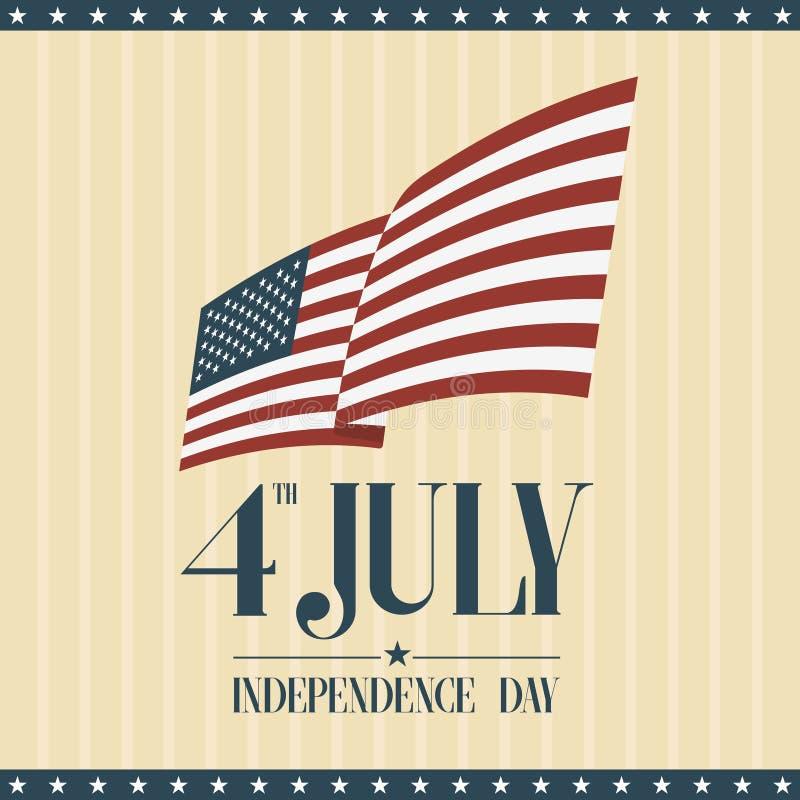 El cuarto de julio, Día de la Independencia americano libre illustration