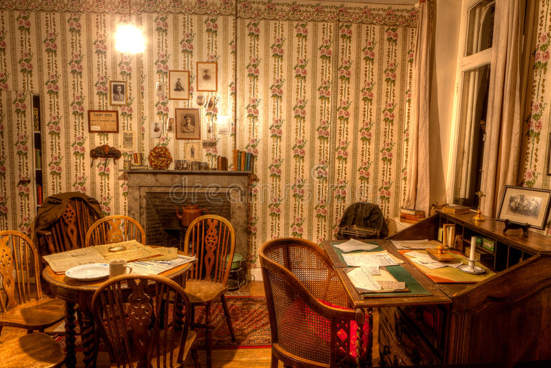 El cuarto de Talbot House, Poperinge, Bélgica fotos de archivo libres de regalías