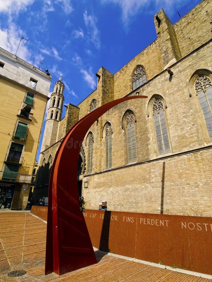 El cuarto gótico en Barcelona foto de archivo