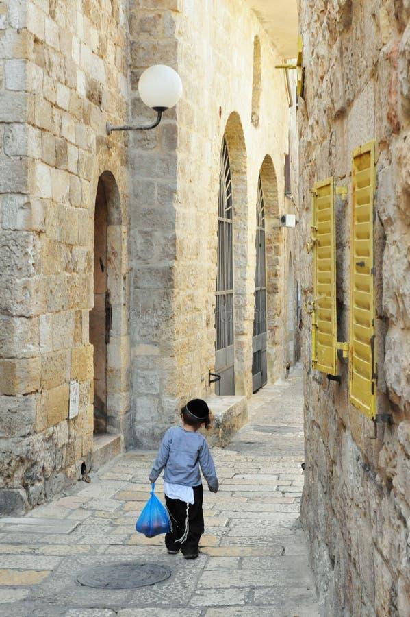 El cuarto judío en Jerusalén Israel foto de archivo