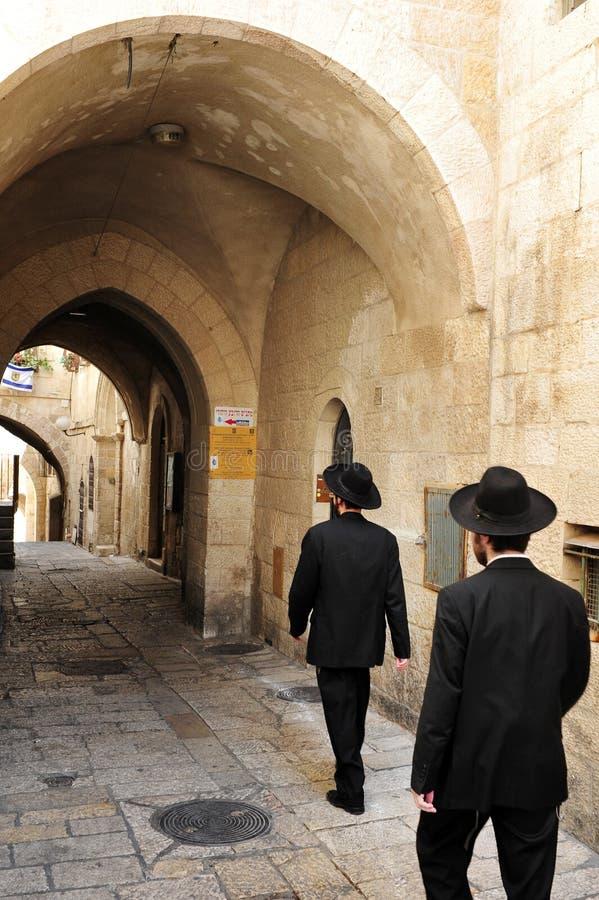 El cuarto judío en la ciudad vieja de Jerusalén foto de archivo libre de regalías