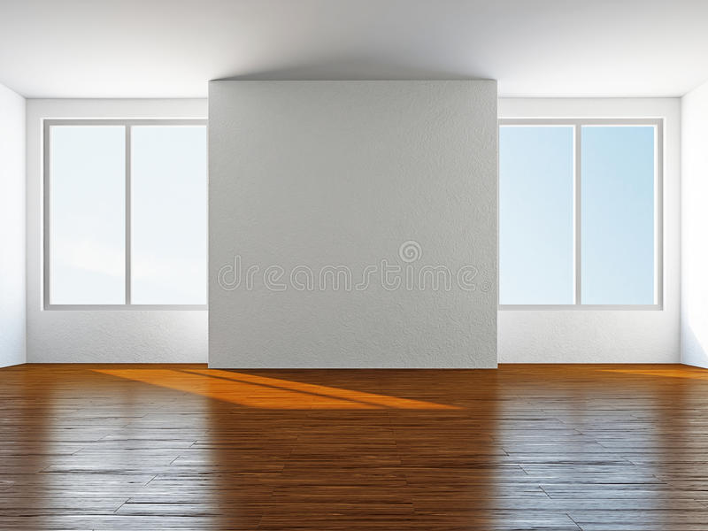 Sitio vacío con la ventana ilustración del vector