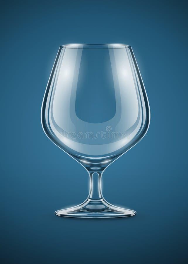 Cubilete de cristal para las bebidas del brandy libre illustration