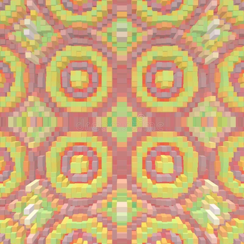 El cubo 3d saca fondo de la simetría, ejemplo de la forma ilustración del vector