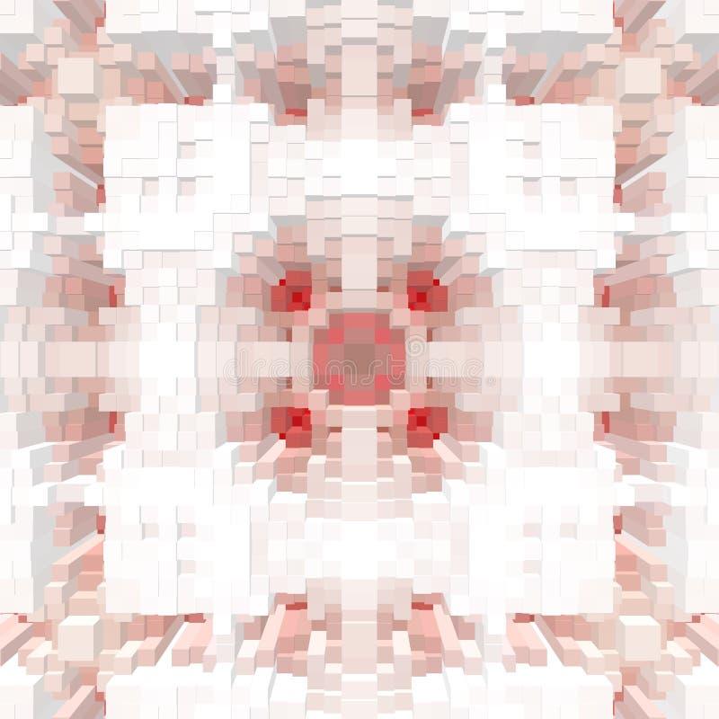 El cubo 3d saca fondo de la simetría, ejemplo inconsútil ilustración del vector