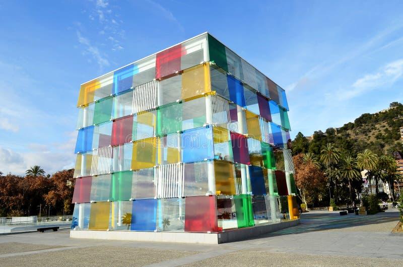 El cubo de Málaga foto de archivo