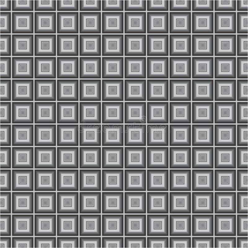 El cubo monocromático negro ajusta el modelo inconsútil de la textura del fondo del vector de la tela fotos de archivo libres de regalías