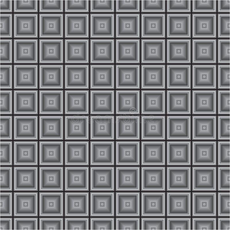 El cubo monocromático negro ajusta el modelo inconsútil de la textura del fondo del vector de la tela foto de archivo libre de regalías