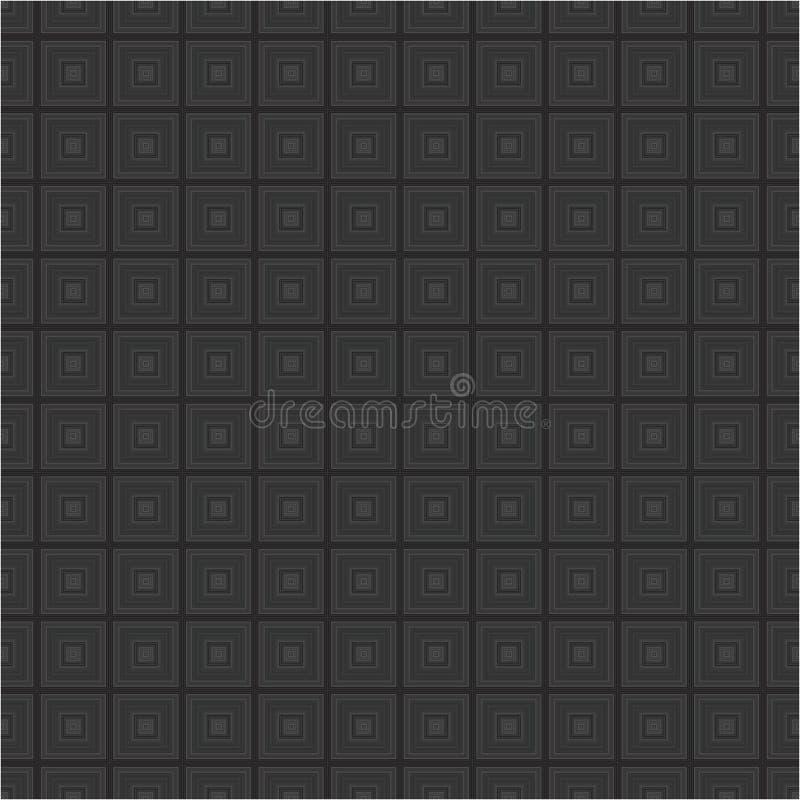 El cubo monocromático negro ajusta el modelo inconsútil de la textura del fondo del vector de la tela fotos de archivo