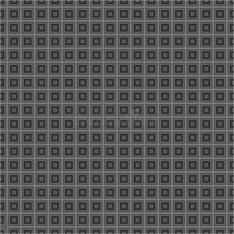 El cubo monocromático negro ajusta el modelo inconsútil de la textura del fondo del vector de la tela imagen de archivo