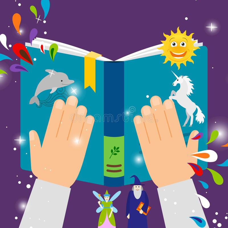El cuento de hadas embroma el libro ilustración del vector