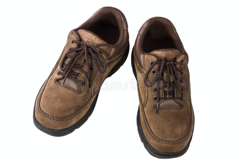 El cuero de Brown sirve los zapatos fotografía de archivo