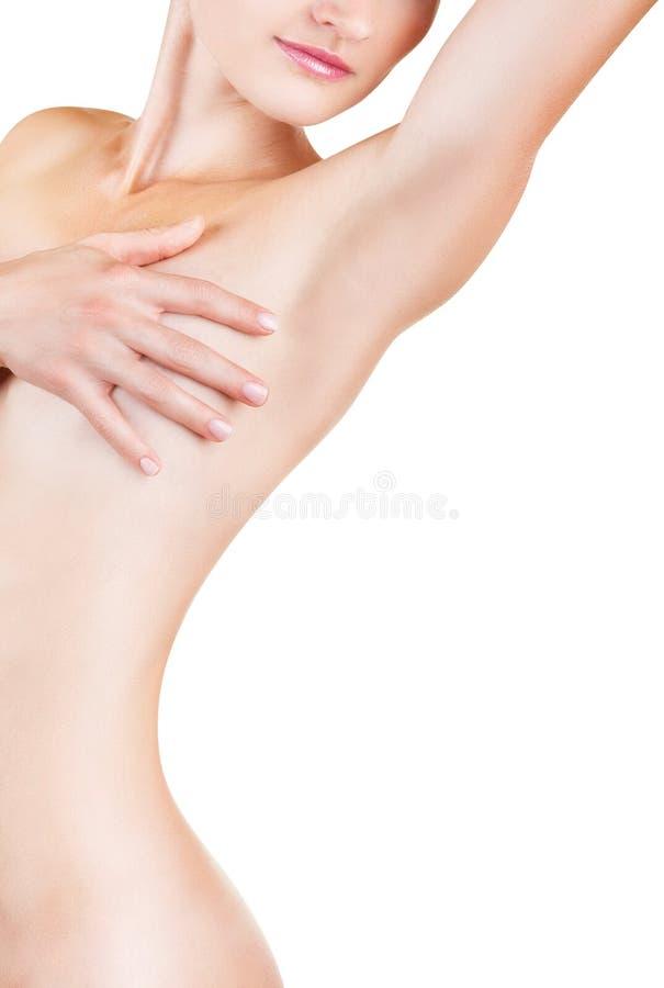 El cuerpo de la mujer hermosa imagen de archivo libre de regalías
