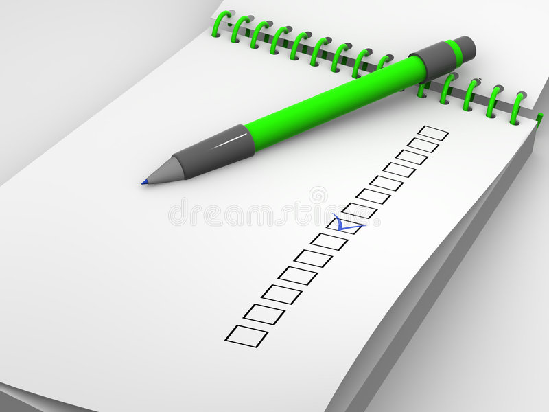 El cuestionario stock de ilustración