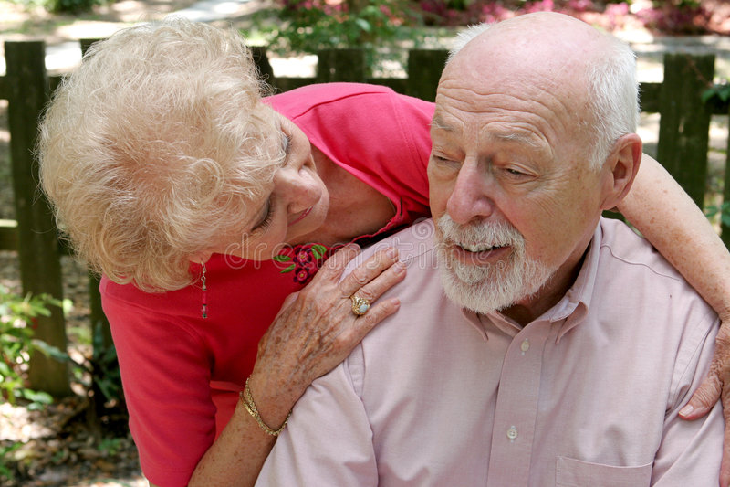 El cuidar para el marido foto de archivo libre de regalías