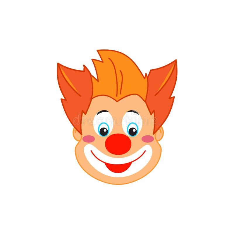 El cumplea?os divertido del carnaval de la m?scara del payaso embroma el personaje de dibujos animados del payaso del partido ais libre illustration